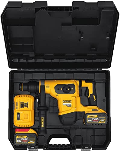 DEWALT FLEXVOLT 60V MAX Rotary Hammer Drill Combination Kit, 1-9 16-Inch DCH481X2