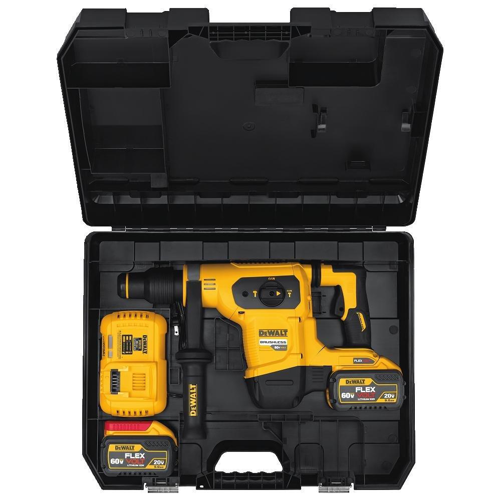 DEWALT DCH481X2 SDS MAX 60V 1-9 16 Combination Hammer Kit