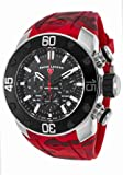 Swiss Legend Men's Quartz Stainless Steel and Silicone Casual Watch, Color:Red (Model: SL10617SM01RDS)