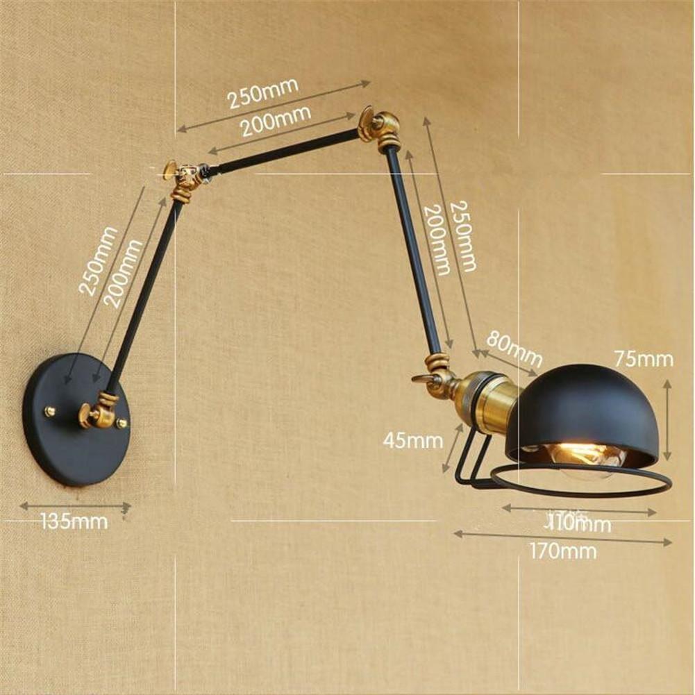este producto no es una bombilla . Studio Intorno Alla pared orientable L/ámpara L/ámpara de pared simple retro con brazo largo