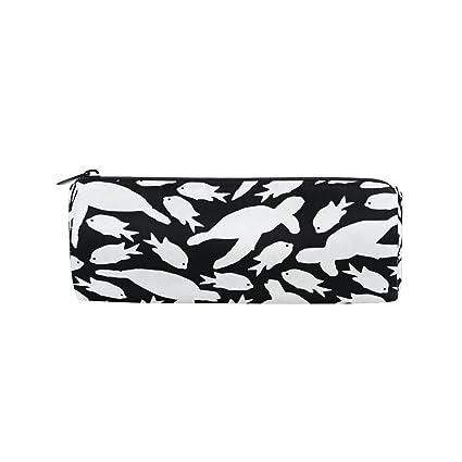 Imobaby - Estuche para lápices de sirena en color blanco y negro con ...