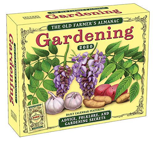 2020 Daily Calendar: The Old Farmer's Almanac - Gardening Boxed Day-to-Day Calendar