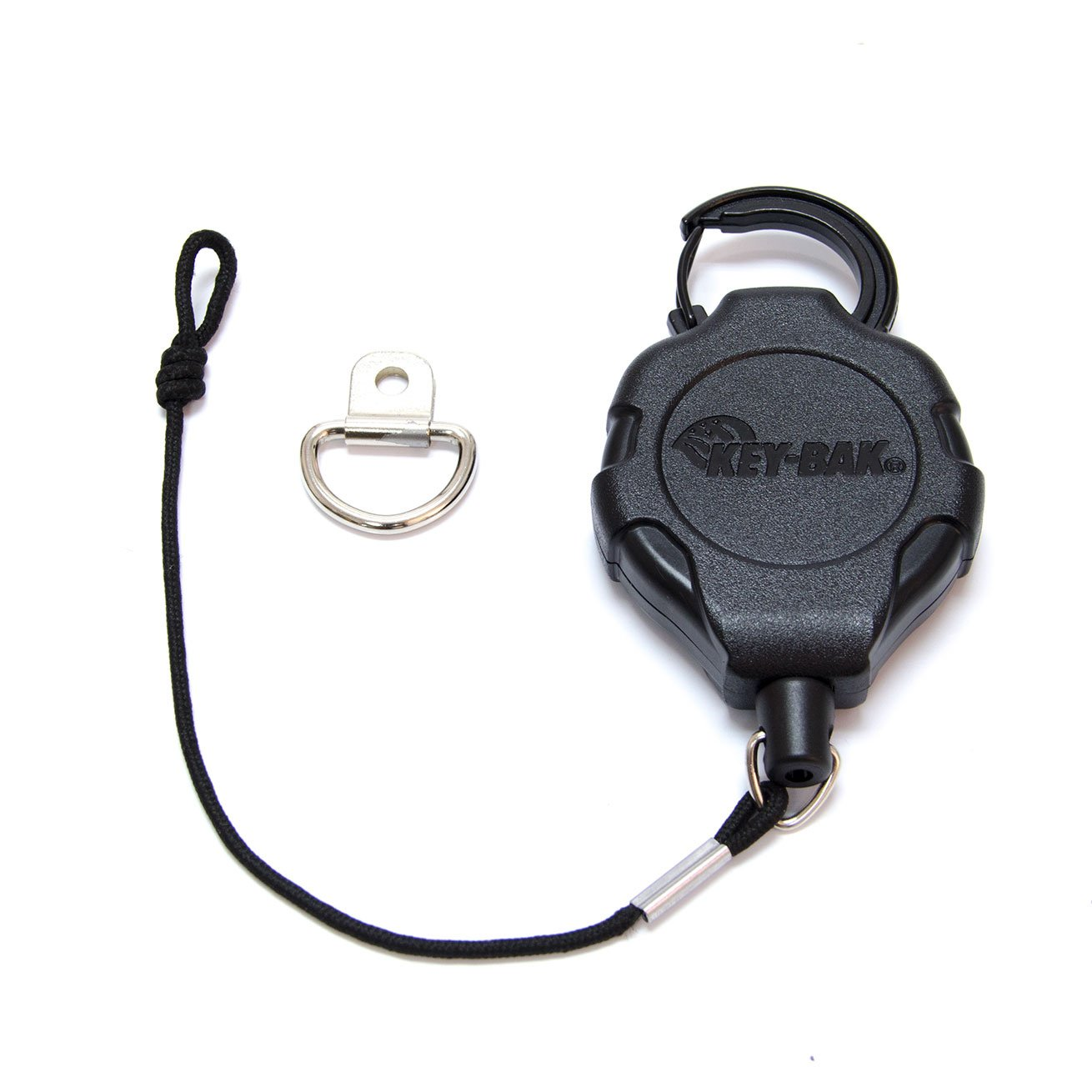 KEY-BAK MIC-BAK CB Radio Retractable Tether, 36'' Kevlar Cord, 8'' Nylon Attachment Loop, D-Ring Mount Included