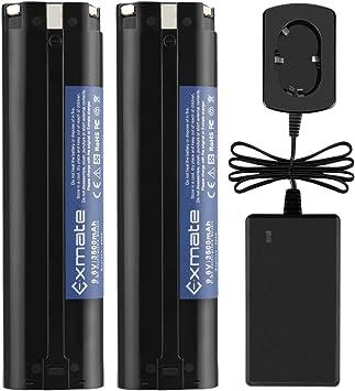 no para bater/ías de ion-litio Exmate Cargador de bater/ía 1.2V-18V Compatible con Makita 7.2V 9.6V 12V 14.4V 18V Bater/ías tipo Ni-MH//Ni-Cd