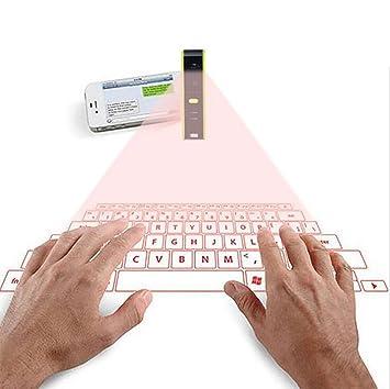 SHANGXIAN Láser Teclado Virtual Proyección Teclado Portátil para iPhone Android Smart Phone iPad Tablet PC Notebook Teclado Ingles,Green: Amazon.es: Hogar