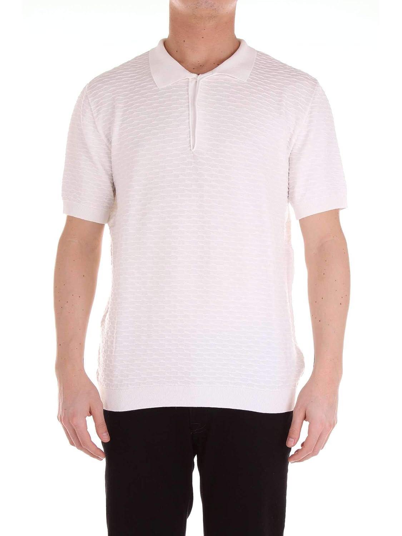 Brand Size XL RELIVE Men's RE706WHITE White Cotton Polo Shirt