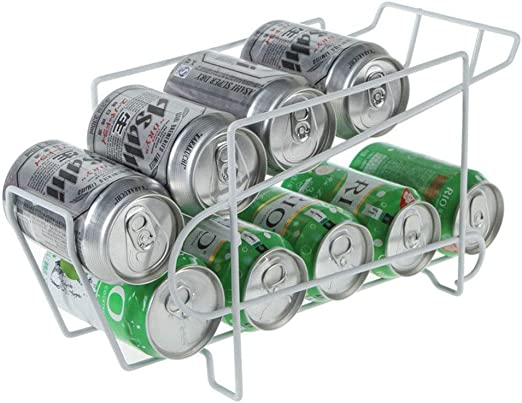 Dispensador de latas de bebidas de 2 niveles, soporte para latas ...