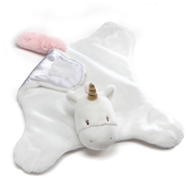 "Baby GUND Luna Unicorn Comfy Cozy Stuffed Animal Plush Blanket, 24"""