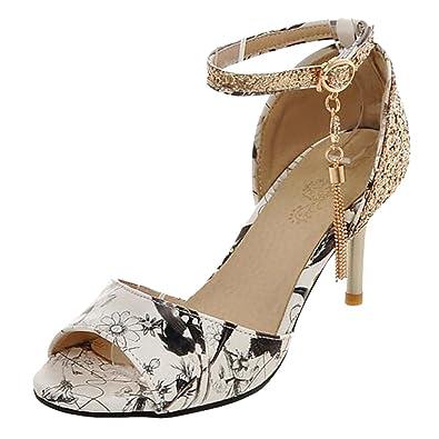 JOJONUNU Women Ankle Strap Pumps Shoes