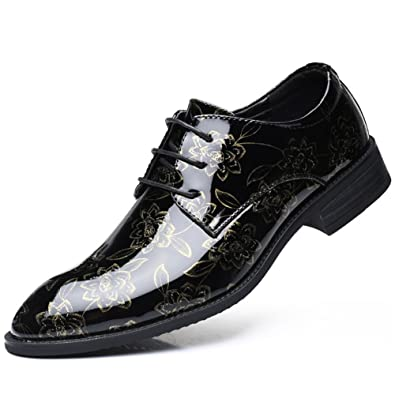 Amazon Big Size 38 48 Men Shoes White Purple Gold Oxfords