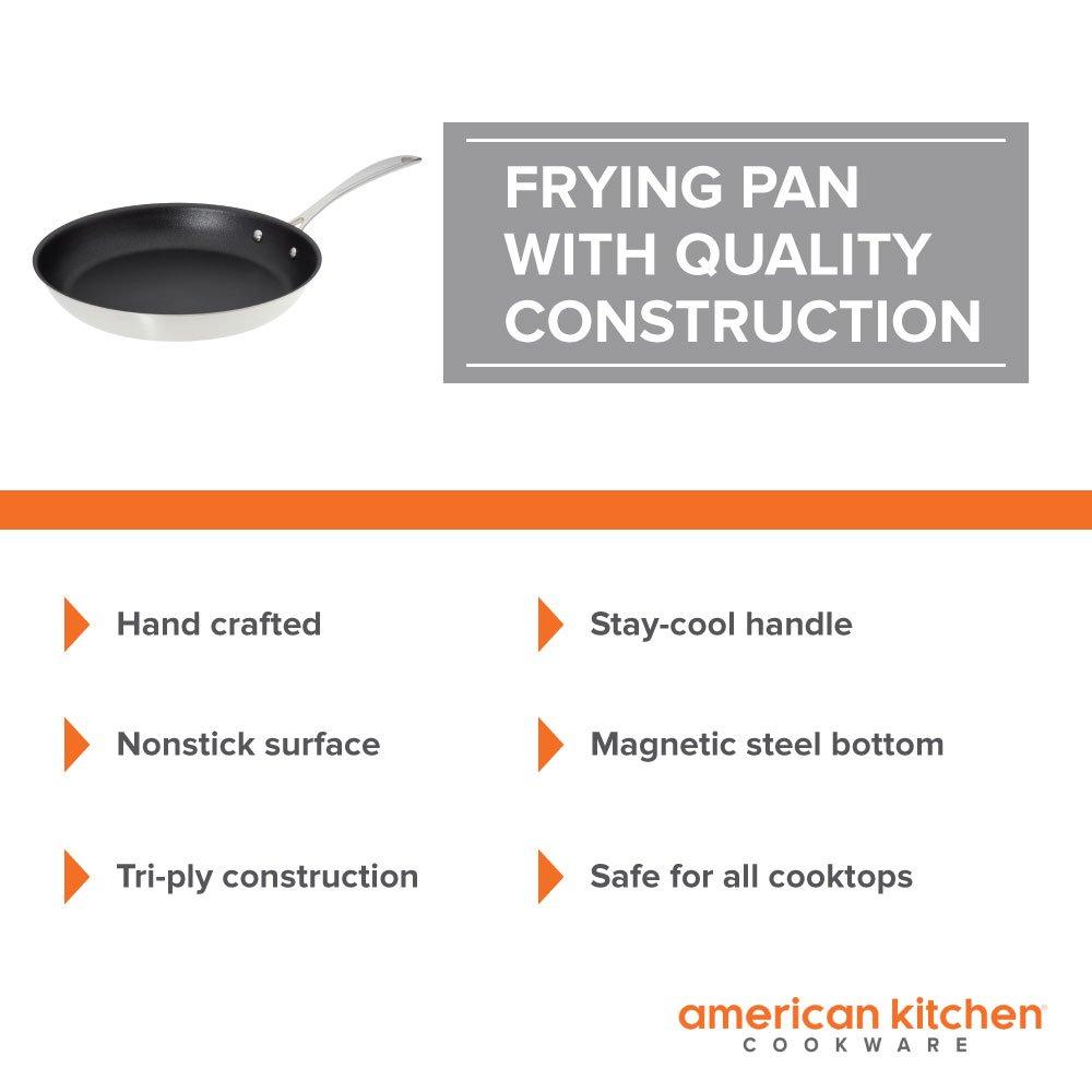 Amazon.com: Nonstick Frying Pan - American Kitchen 12-Inch Premium ...