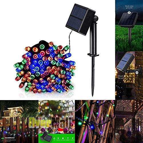 String Lights,Solar Powered 100 LEDs String Fairy Tree Light Outdoor Wedding Party Xmas Thanksgiving Decor