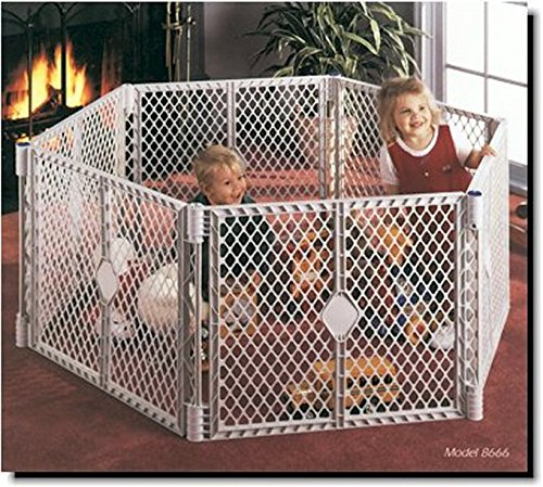 NORTH STATES SUPERYARD XT Baby/Pet Gate & Play Yard (Plastic Play Infant Yard)