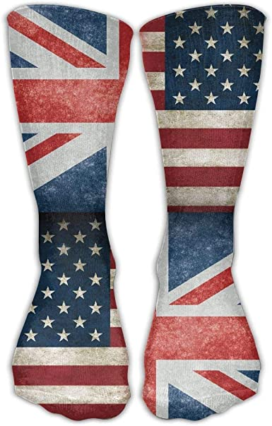 Tyueu USA British Flag Unisex Novelty Crew Socks Ankle Dress Socks Fits ShoeFashion Socks Calcetines largos: Amazon.es: Ropa y accesorios