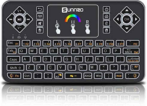blackgik Q9 Mini Teclado Inalámbrico de Control Remoto con Panel Táctil, Conjunto de Teclado y Ratón de 2.4 GHz para Android PC/Decodificador/ Televisor Inteligente con Teclas Multimedia: Amazon.es: Electrónica