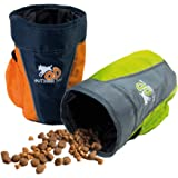 All for Paws Outdoor Dog Train N Treat Bag, Orange/Green