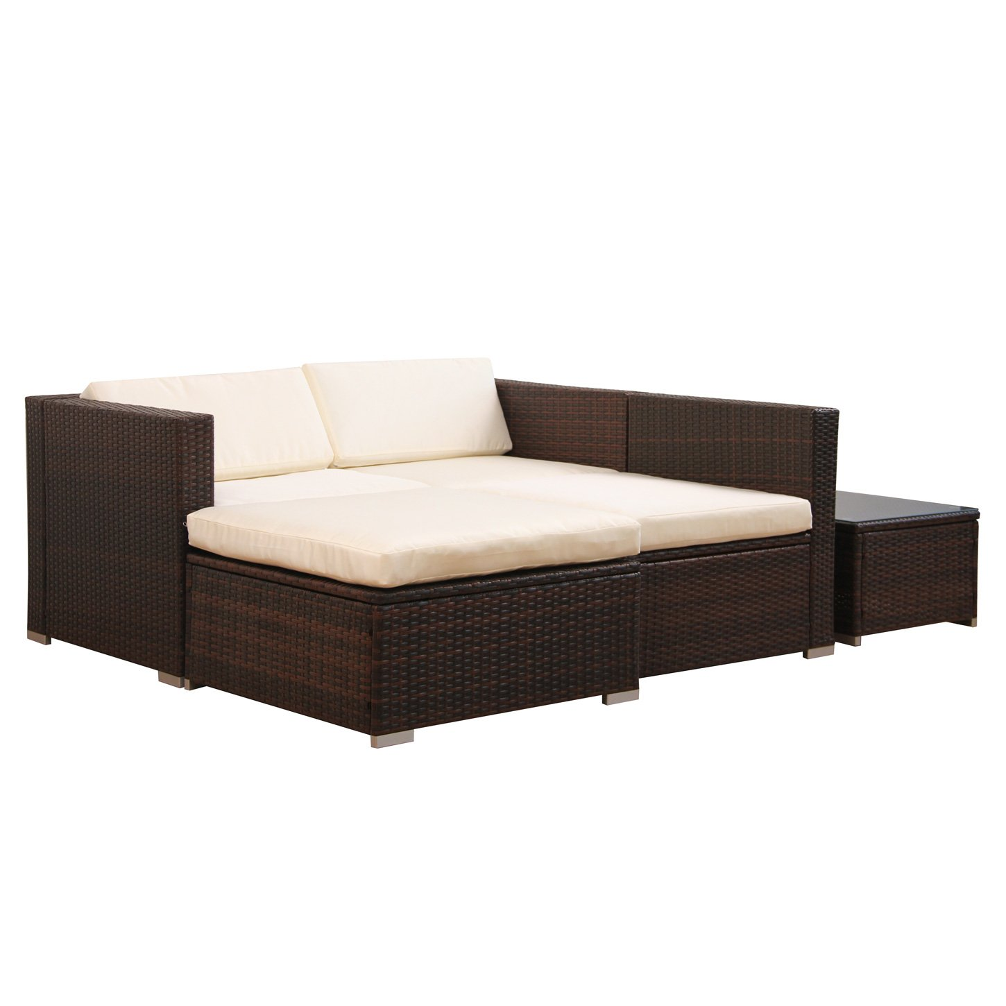 rattan ecksofa lounge. Black Bedroom Furniture Sets. Home Design Ideas