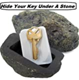 Hide a Spare Key Fake Rock, Gray Camouflage Stone Diversion Safe Looks & Feels Like Real Stone Rock, Safe for Outdoor Garden or Yard, Geocaching Popular Practical Performance – By Katzco