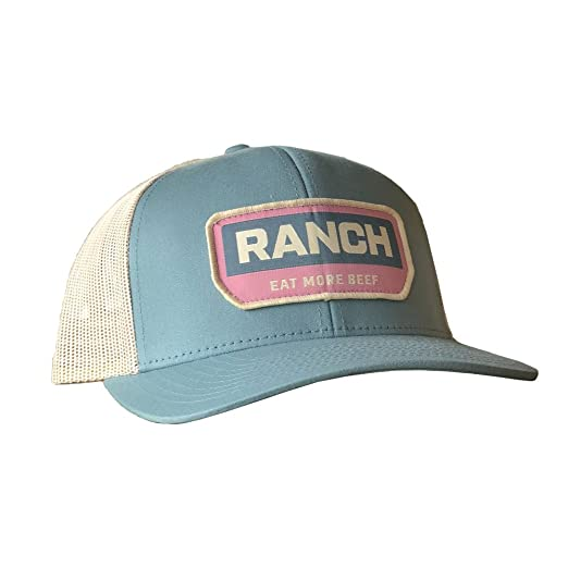 1fde927965d YNOT Lifestyle Brand  Ranch Patch  Adjustable Snapback Hat (RetroBlue)