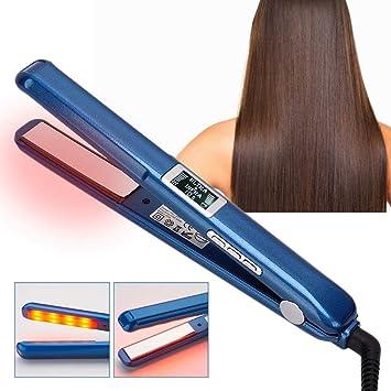 Rizador de pelo recto de doble uso con pantalla LCD, rizador de 2 ...
