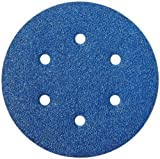 Norton 3X High Performance Hook and Sand Paper Discs with 6 Hole, Ceramic Alumina, 6'' Diameter, Grit P60 Coarse (Pack of 10)