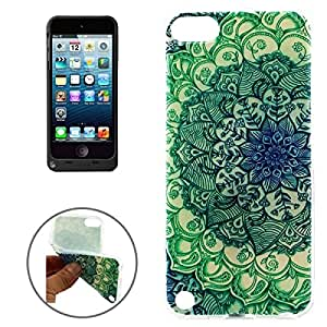 Green Flower Bud Pattern TPU Protective Case for iPod Touch 5