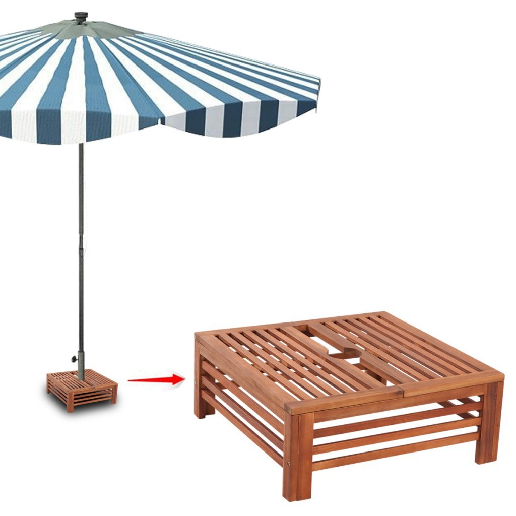 Festnight Rivestimento Supporto Base ombrellone Parasole in Legno