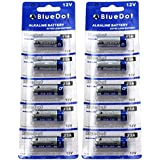 BlueDot Trading 12 Volt Alkaline Dry Cell Batteries, 10 Count