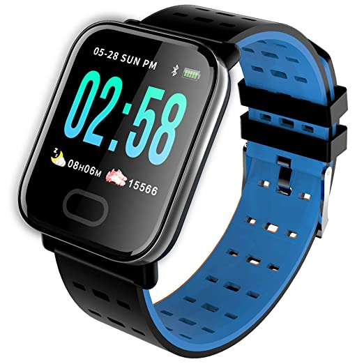 Gjyia A6 Smart Watch with Heart Rate Monitor Fitness Tracker Blood ...