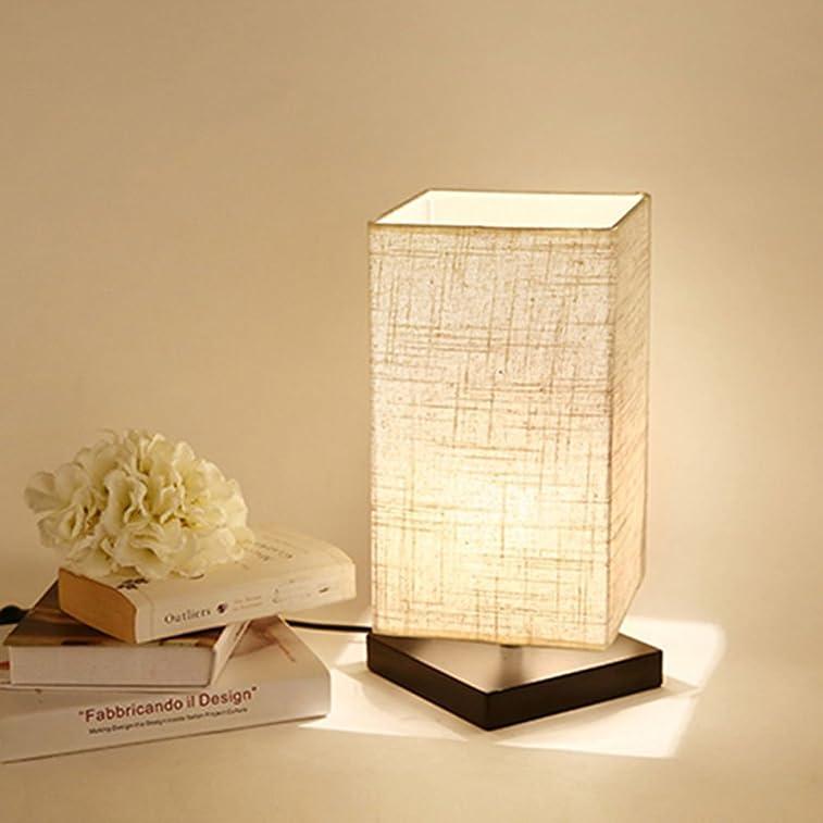 简约大方!最受欢迎的木座日式布艺台灯$15.74!