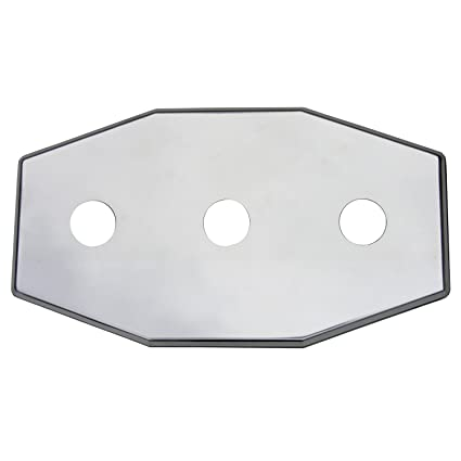 simpatico 31655c stainless steel remodel plate 3 hole fits any 8