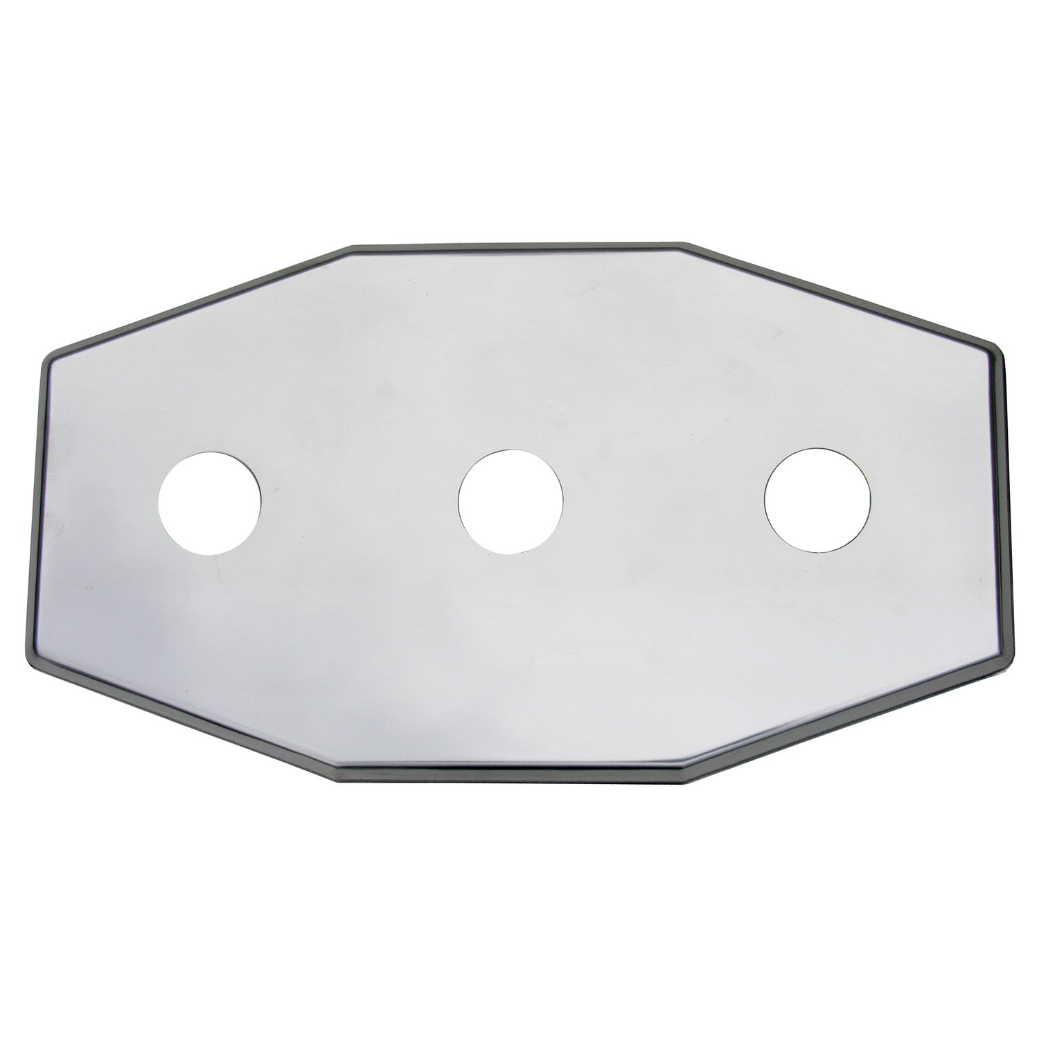 Simpatico 31655C Stainless Steel Remodel Plate, 3 Hole Fits Any 8'' Center, Tub And Shower Valve, Chrome Plated