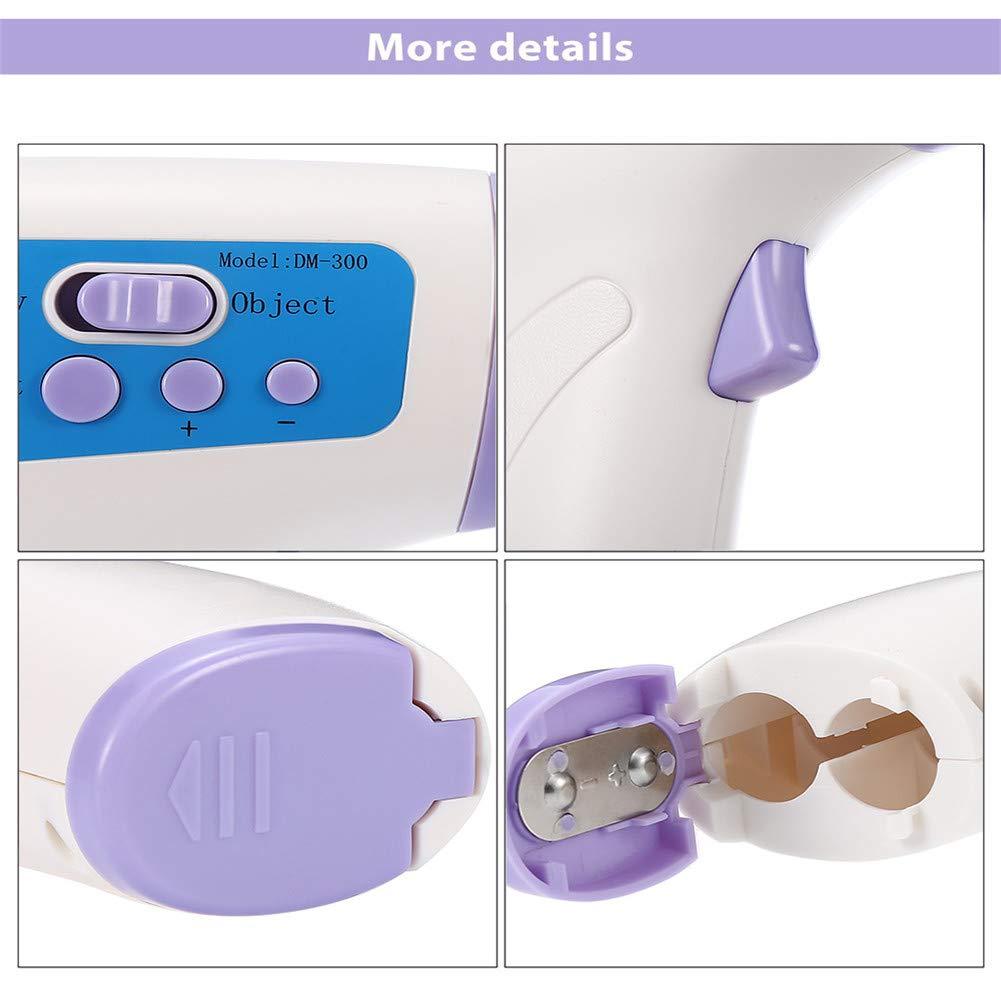 term/ómetro infrarrojo m/édico digital 3 en 1 para beb/és y adultos Dispositivo de medici/ón de temperatura sin contacto con pistola term/ómetro infrarrojo DM300