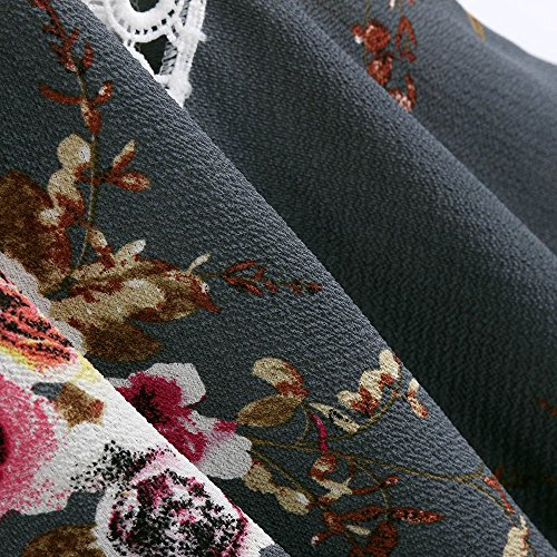 Super Cappotto chiffon in Rosa Bianco Grigio Estate Per da donna qualità selvaggia Camicetta Donna Stampa Grau1 Copricostume Stretto floreale Kimono Blu Moda Accogliente rFw0ZrqYx