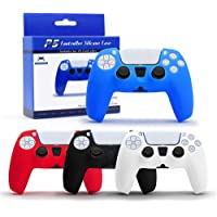 4 Pack PS5 Controller Grip Cover, Anti-Slip Silicone Skin Protective Cover Case for Playstation 5 DualSense Wireless…