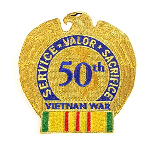 50th Anniversary Vietnam Veterans Military Embroidered Patch Iron Sew AKPM1100