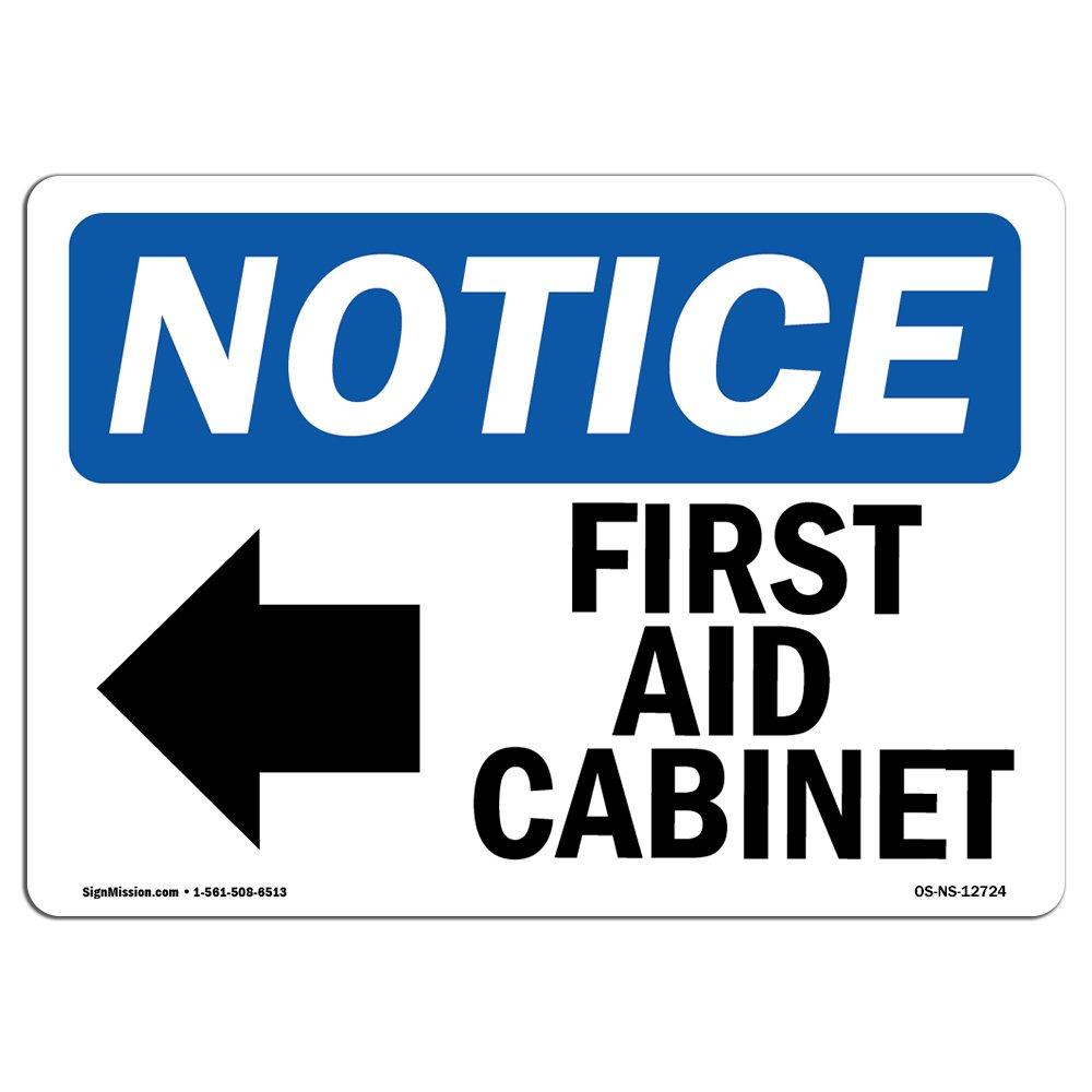 OSHA Aviso - armario de primeros auxilios [flecha izquierda ...