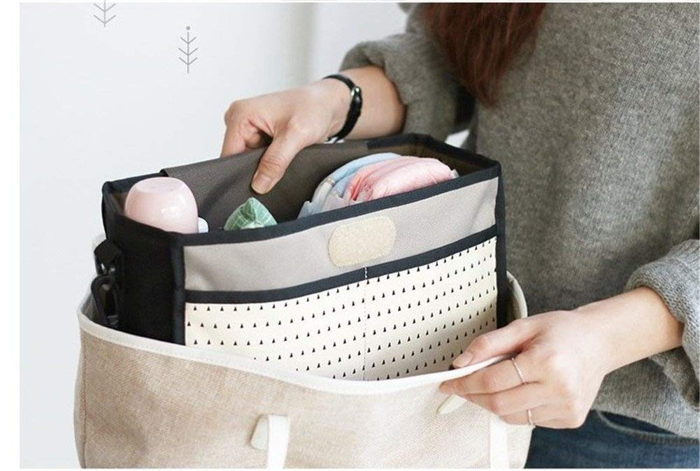 Nexlook Stroller Organizer Carriage Pram Cart Mummy Infant Nappy Mom Bags Water Bottle Diaper Pocket with two cup holder