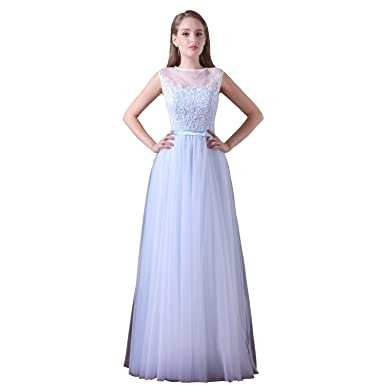 a5c95d7ea3ef XGSD Women s Evening Dress Elegant Lace Chiffon Prom Dress Long Formal  Aline Evening Gowns Vestido De Noite at Amazon Women s Clothing store