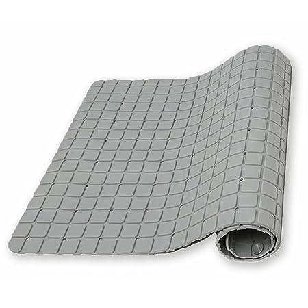 ada70b9a7e03 UrsoKuz Non Slip Minimalist Shower Mat Bath Mat - Colour Grey - Matte  Finish Surface & Suction Grips Back - 69.5 x 40 cm (27.3 x 15.7-inch):  Amazon.co.uk: ...