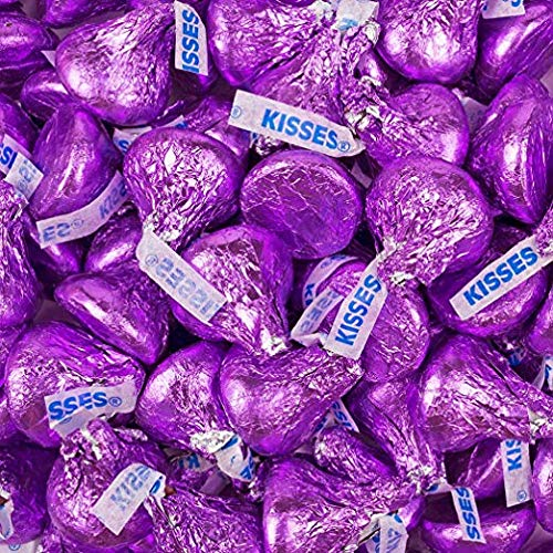 Hershey's Kisses Milk Chocolate Candy | Valentines Candy | Purple - 5 lb
