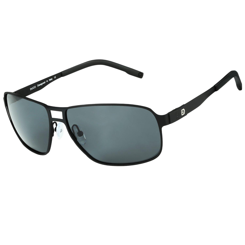 DUCO Pilot Style Polarized Sunglasses For Men UV400 Lens Stainless Steel Frame For Sports Golf by DUCO