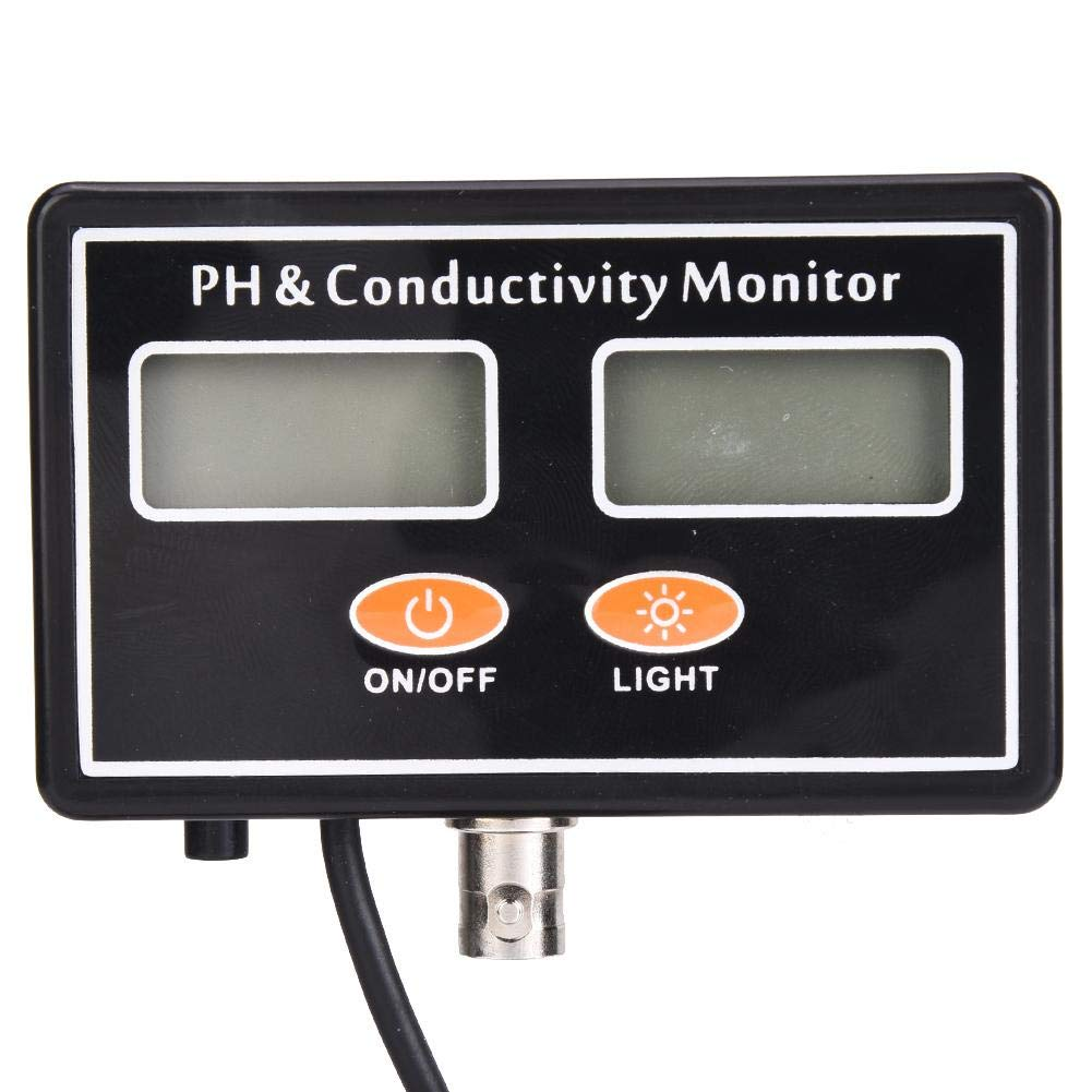 Kit testeur de qualit/é de leau en ligne PH EC Monitor Meter avec sonde PH rempla/çable UE
