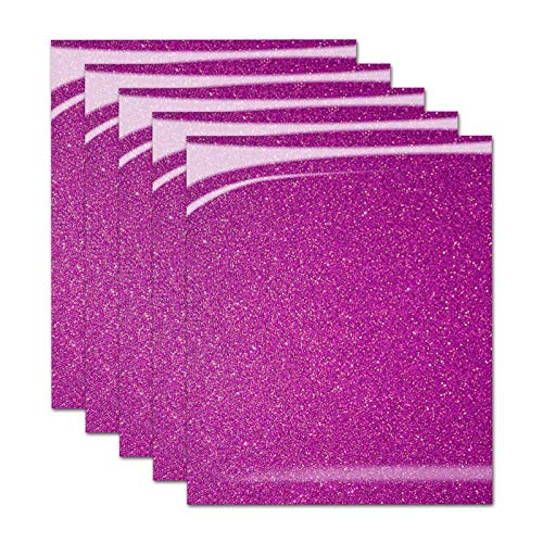 - Pumpkin Brother Hot Pink Shiny Glitter Heat Transfer Vinyl Iron On HTV Bundle for DIY Clothes, 12x10 Inch, Pack of 5 Sheets, Eco-Friendly Made in Korea