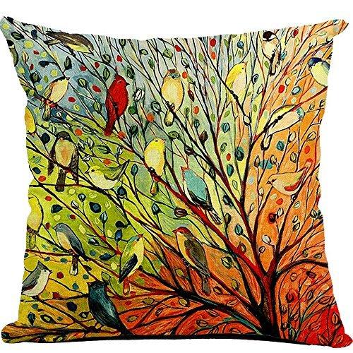YOLER Pillow Case Decorative Sofa Cushion Satin 17.5x17.5 Inch Bright Color (Balloon A)