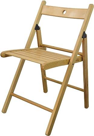 Chaises en bois pliantes couleur bois naturel lot de 6
