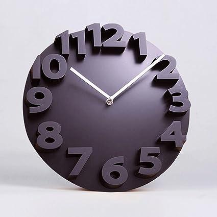 ZLR Reloj de pared creativo moderno salón reloj de pared 3D personalizado reloj de pared tridimensional
