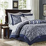 Aubrey 12 Piece Complete Bed Set Navy King