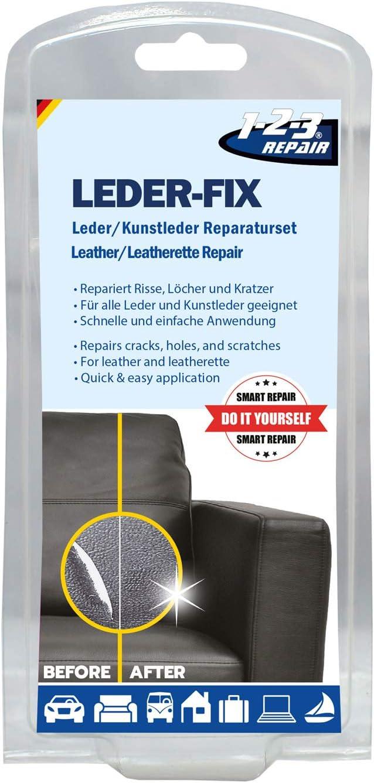 1 2 3 Repair Leder Reparaturset Für Ledercouch Lederjacke Einfach Reparieren 15tlg Set 7 Farben Küche Haushalt