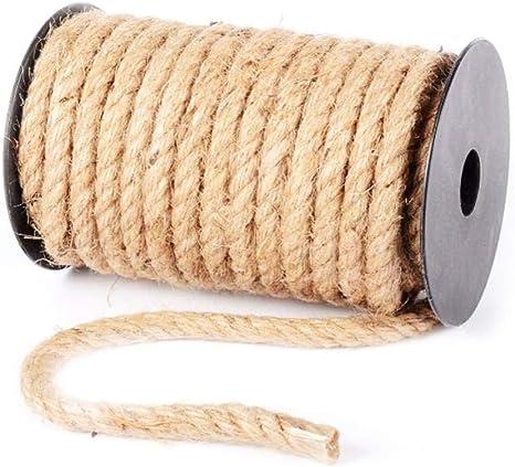 ZYHYCH Cuerda de Yute Natural de 10M, Cuerda de sisal para ...